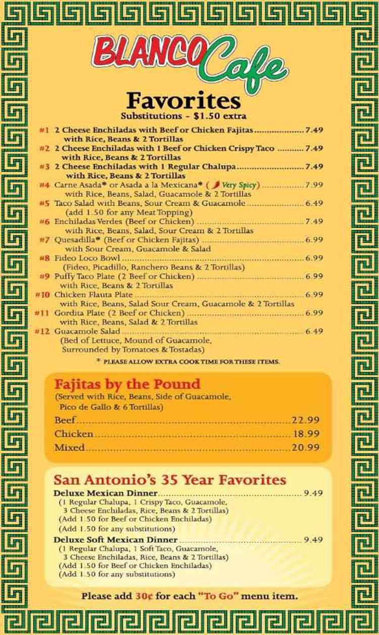 Bourbon Street Cafe Menu San Antonio